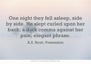 LoveNote: A.S. Byatt, Possession