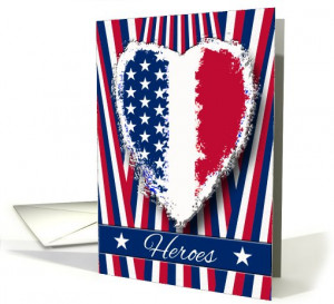 Police Officer Thank You, Hero Quote, Patriotic Heart card (940535)