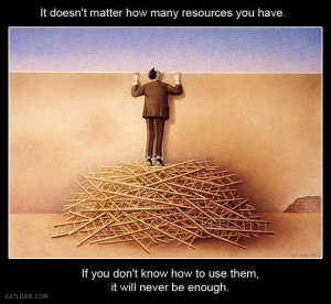 it doesn't matter how much you have. its how you use it.