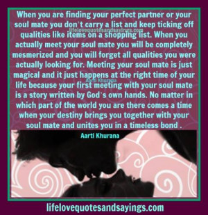 Soul Mates Happen At The Perfect Time.