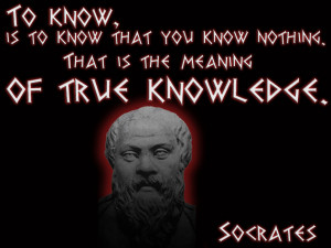 """... of Human Excellence is to question oneself and others."""" – Socrates"""