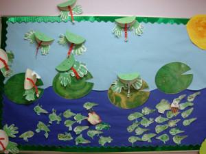 Preschool Frog Bulletin Board Ideas