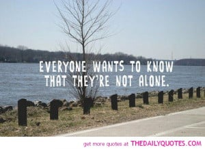 Not Alone Quotes Pictures