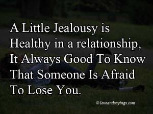 Little Jealousy In Relationships
