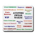 Auditor - Auditing Swear Words Funny Mousepad