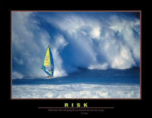 RISK Windsurfing Motivational Poster (w/T.S. Eliot Quote ...