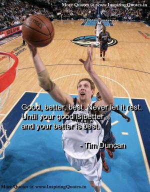Tim Duncan Quotes and Sayings, Motivational Thoughts