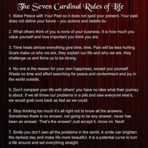 Awesome Quotes: The Seven Cardinal Rules of Life