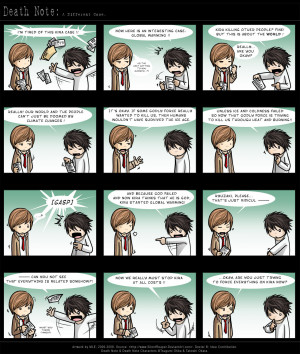 Death Note this is funny at the end...