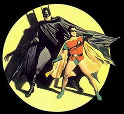 Batman and Dick Grayson as Robin reinterpreted by painter Alex Ross ...