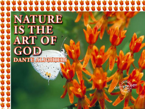 "Nature Is The Art Of God "" Dante Alighieri"