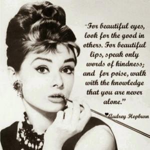 Famous Audrey Hepburn Quotes & Images