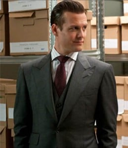 In Suits, Harvey Specter is often seen wearing form-fitting three ...