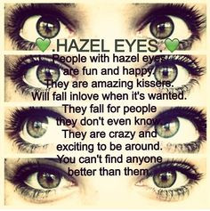 People with Hazel Eyes Quotes