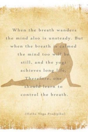 Breathing...and yoga