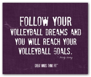 quotes for girls volleyball inspirational