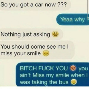 bus car funny text miss smile