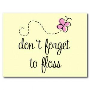 Funny Floss Dental Hygienist Postcard