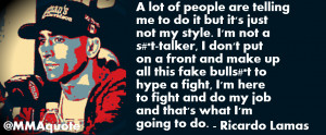 Sometimes fighters who run their mouth can a lot more opportunities ...