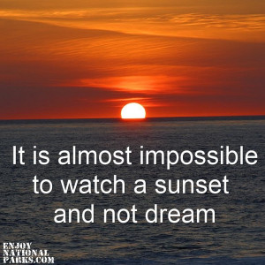Watching Sunsets Quotes