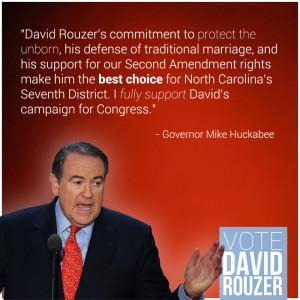 Governor Mike Huckabee endorses David Rouzer