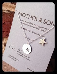 Mother Son Jewelry. Inspirational Gift. Mom Necklace. Stars on Etsy, $ ...
