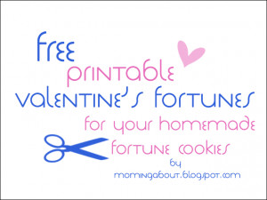 Free Valentines Day Fortune Cookie Printables