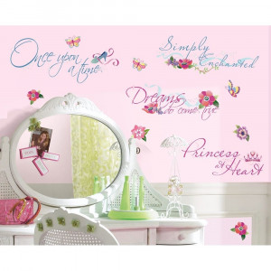 ... PRINCESS QUOTES WALL DECALS Princesses Stickers Girls Room Decor