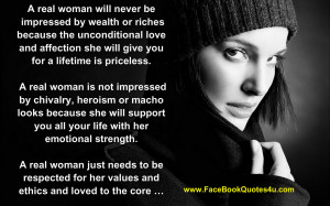 real woman will never be impressed by wealth