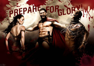 300 - Queen Gorgo, King Leonidas and Xerxes