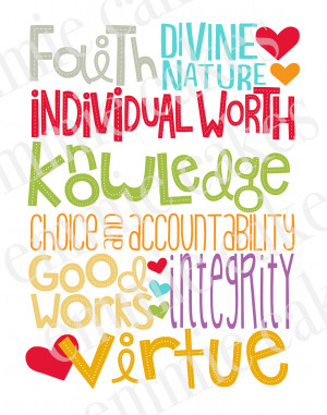 Faith Divine Nature Individual Worth Knowledge Choice And ...
