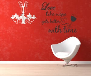 Details about Wall quotes saying Love like wine gets better with time ...
