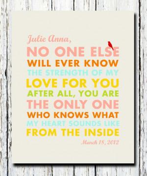 Gift, Inspirational quote, Gift for Godchild, Bird, Christening ...