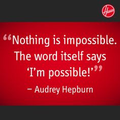 ... says 'I'm possible!'