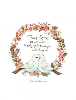True love quote, Quote Print, Unique wedding gift, Typography print ...