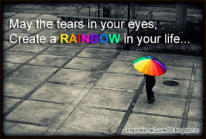 There is always a rainbow after the storm?