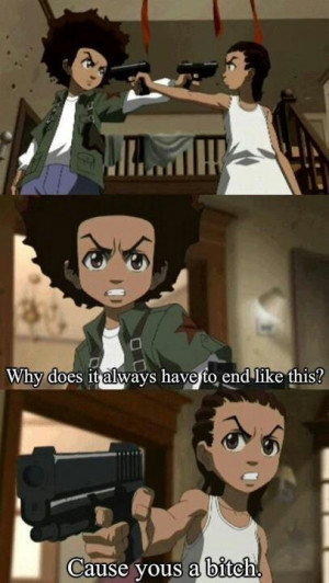 Boondocks- I love how huey and riley were originally two sides of the ...