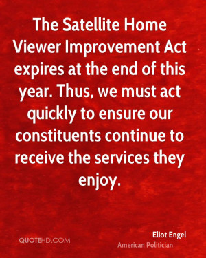 The Satellite Home Viewer Improvement Act expires at the end of this ...