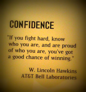 Confidence - good chance of winning quote