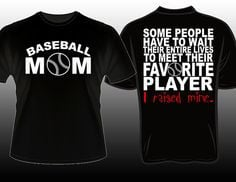 Proud Baseball Mom Favorite Player Tshirt www.etsy.com ...