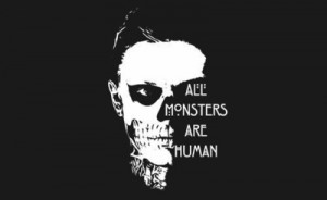 american horror story, art, black and white, drawing, evan peters ...