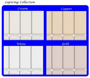 Vertical window blinds lapwing collection