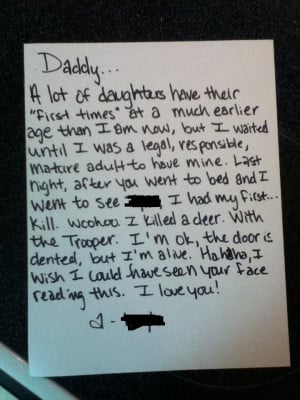 Daughter's Letter To Her Dad About Her First Time