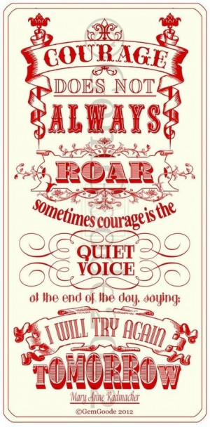 in part or all of the existing content on this page: Courage Quotes ...