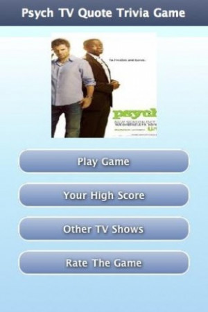 Psych TV Quote Trivia Game