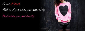 Lonely Girl Quotes Facebook Cover Facebook Covers