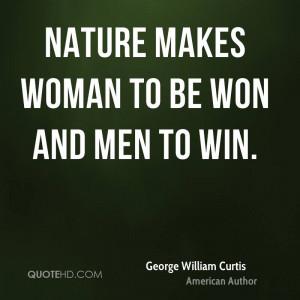 George William Curtis Women Quotes