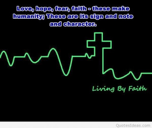 Living by faith quote pic