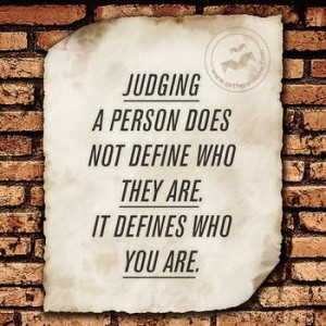 Do you feel bad for judging people even if you can't help it?