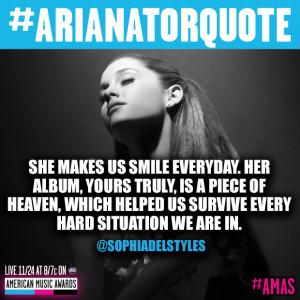 Ariana Grande Fan Army Quote